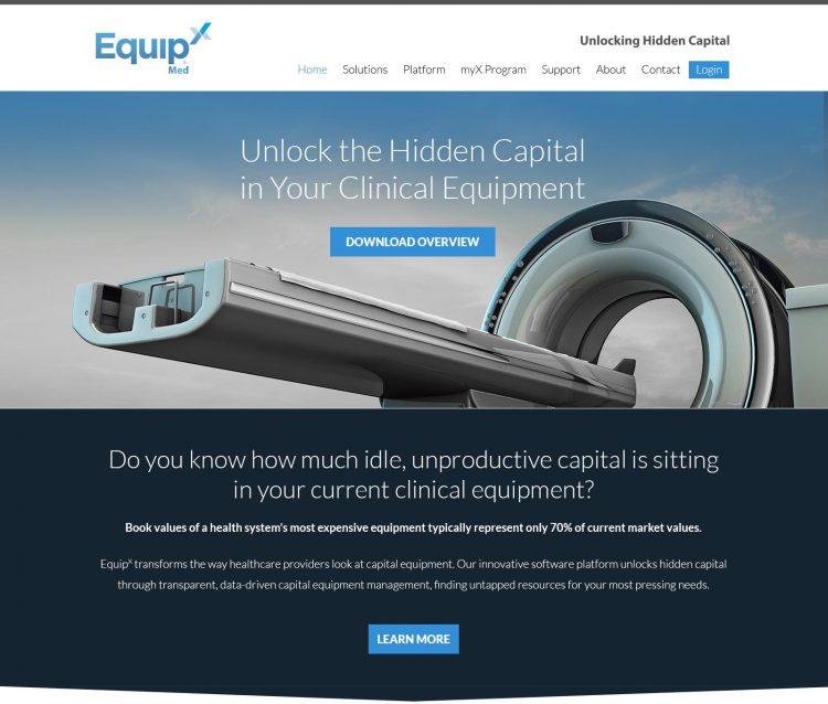 Twig portfolio project - EquipX Med