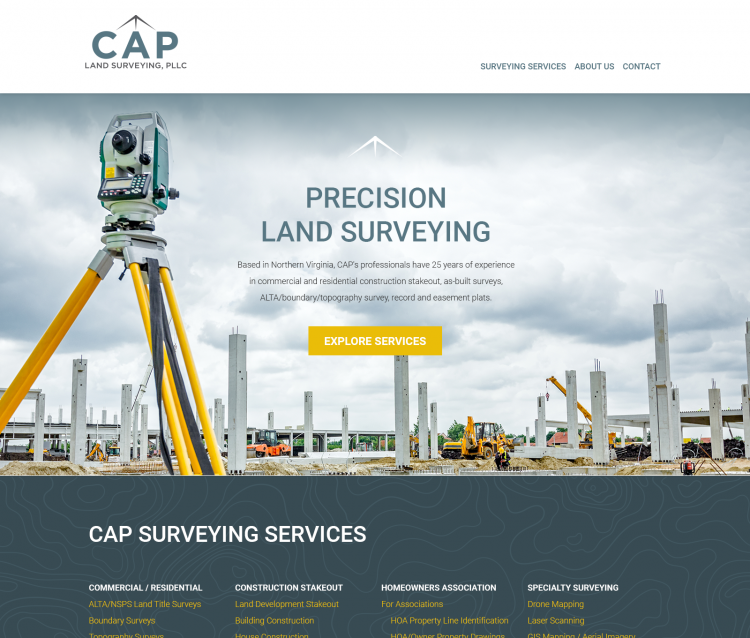 Twig Portfolio Project - CAP Land Surveying