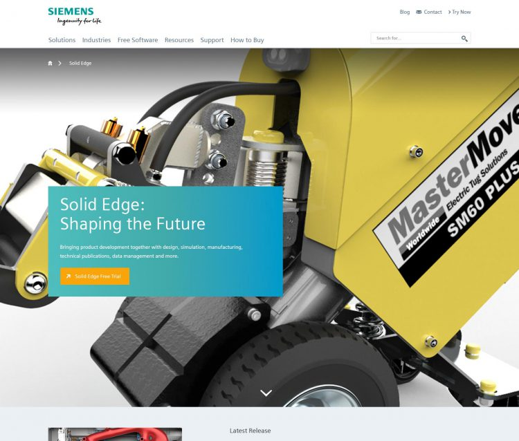 Portfolio: Siemens Solid Edge